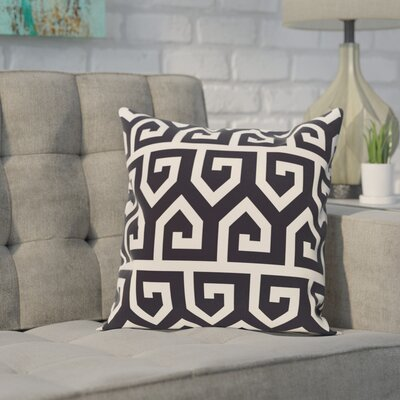Alber Geometric Print Throw Pillow Color: Navy Blue, Size: 18 H x 18 W