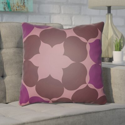 Anderson Mill Throw Pillow Size: 18 H x 18 W x 4 D, Color: Brown/Purple
