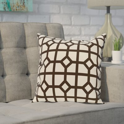 Ketron Geometric Print Throw Pillow Size: 16 H x 16 W, Color: Dark Brown
