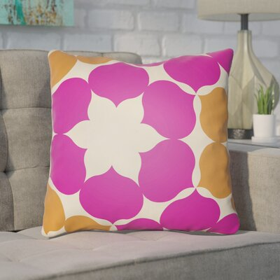 Anderson Mill Throw Pillow Size: 22 H �x 22 W x 4 D, Color: Magenta/Orange