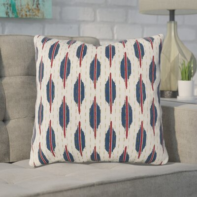 Veatch Pillow Cover Color: Crimson/Navy