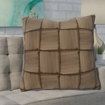 Urso Geometric Print Throw Pillow Color: Brown