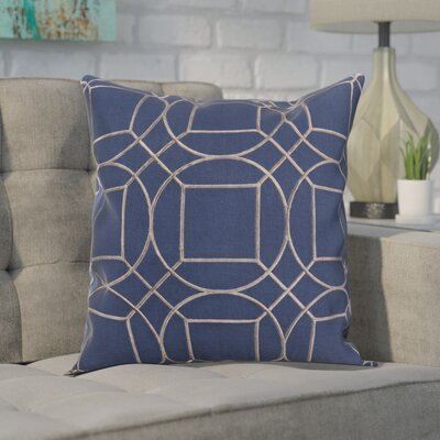 Alam 100% Linen Throw Pillow Cover Size: 18 H x 18 W x 1 D, Color: BlueGray