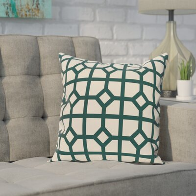 Ketron Geometric Print Throw Pillow Size: 18 H x 18 W, Color: Teal