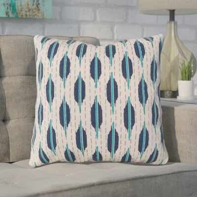 Veatch Pillow Cover Color: Teal/Navy