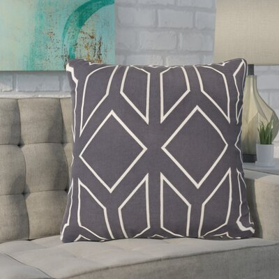 Baccus 100% Linen Throw Pillow Cover Size: 22 H x 22 W x 1 D, Color: NavyIvory