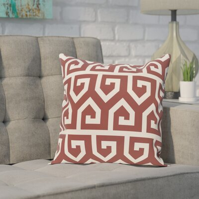 Manwe Geometric Print Throw Pillow Size: 18 H x 18 W, Color: Rust