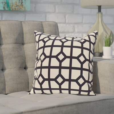 Mensa Geometric Print Throw Pillow Color: Navy Blue, Size: 26 H x 26 W
