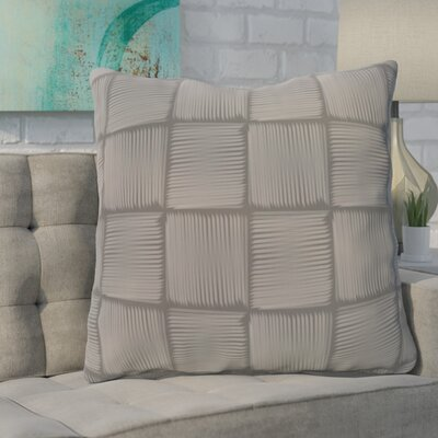 Urso Geometric Print Throw Pillow Color: Gray