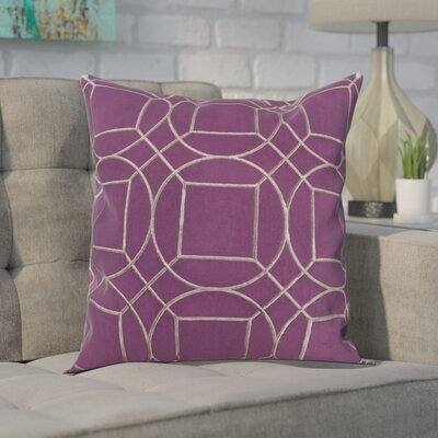 Alam 100% Linen Throw Pillow Cover Size: 22 H x 22 W x 1 D, Color: PurpleGray