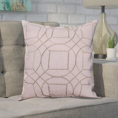 Alam 100% Linen Throw Pillow Cover Size: 22 H x 22 W x 1 D, Color: LilacGray