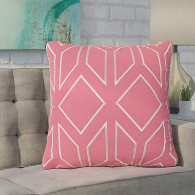 Baccus Linen Pillow Cover Size: 20 H x 20 W x 1 D, Color: PinkGray