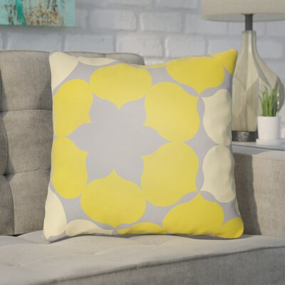 Anderson Mill Throw Pillow Size: 18 H x 18 W x 4 D, Color: Yellow/Grey