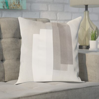 Gilberto Cotton Throw Pillow Cover Size: 20 H x 20 W x 1 D, Color: GrayNeutral