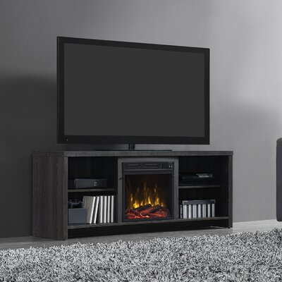 Pelton 60 TV Stand with Fireplace Finish: Black Walnut