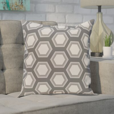 "Image of Agatha Geometric Print Outdoor Pillow Color: Steel Gray, Size: 18"" H x 18"" W x 1"" D"