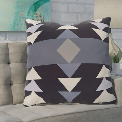 Bobbi Geometric Throw Pillow Color: Navy Blue
