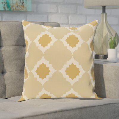Pollard Geometric Print Throw Pillow Size: 16 H x 16 W, Color: Gold