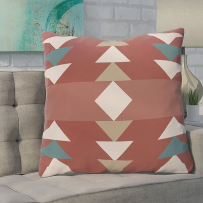 Severn Bridge Geometric Throw Pillow Color: Orange