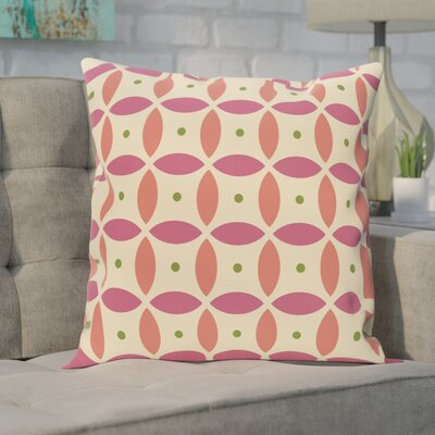 Berenices Geometric Print Outdoor Pillow Size: 18 H x 18 W x 1 D, Color: Soft Lemon