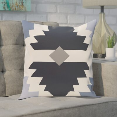 Ohboke Geometric Print Throw Pillow Color: Navy Blue, Size: 18 H x 18 W