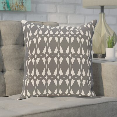 Freja Geometric Print Throw Pillow Size: 18 H x 18 W, Color: Gray