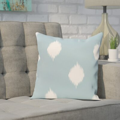 Leporis Decorative Holiday Ikat Print Throw Pillow Size: 18 H x 18 W, Color: Light Blue
