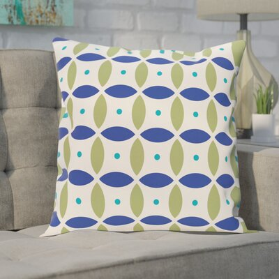 Hal Geometric Print Outdoor Pillow Color: Dazzling Blue, Size: 16 H x 16 W x 1 D
