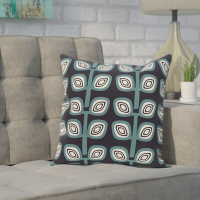 Cavendish Geometric Print Throw Pillow Color: Navy, Size: 18 H x 18 W