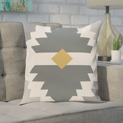 Avian Geometric Print Throw Pillow Size: 18 H x 18 W, Color: Gray