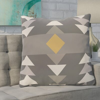 Bobbi Geometric Throw Pillow Color: Gray