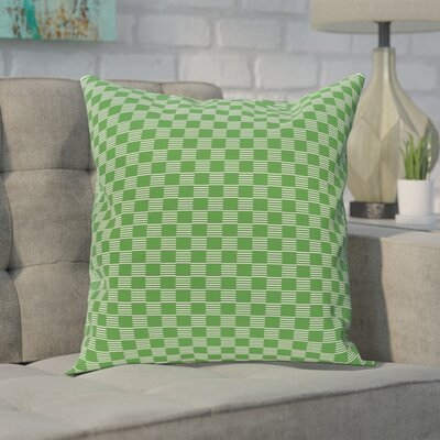 Buettner Geometric Print Outdoor Pillow Color: Leaf Green, Size: 18 H x 18 W x 1 D
