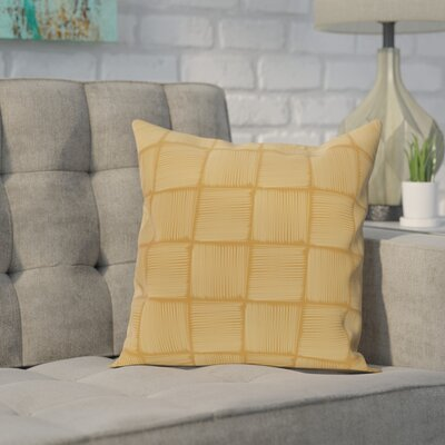Monoceros Geometric Print Throw Pillow Size: 16 H x 16 W, Color: Gold