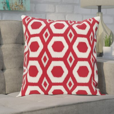 Berna Geometric Print Outdoor Pillow Color: Formula One, Size: 16 H x 16 W x 1 D
