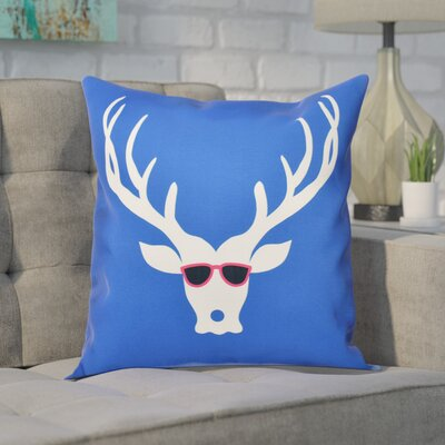 Leonis Holiday Print Throw Pillow Size: 20 H x 20 W, Color: Royal Blue