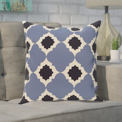 Pollard Geometric Print Throw Pillow Color: Navy Blue, Size: 28 H x 28 W
