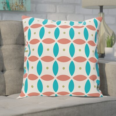 Berenices Geometric Print Outdoor Pillow Color: Seed, Size: 18 H x 18 W x 1 D