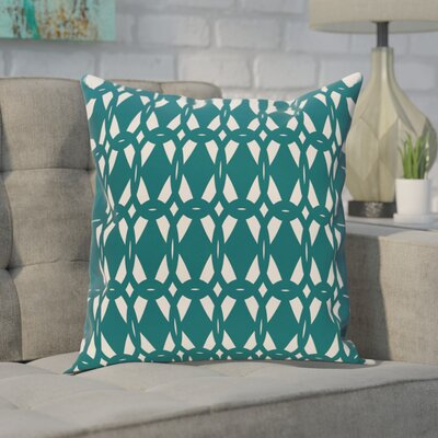 Sersic Geometric Print Throw Pillow Size: 16 H x 16 W, Color: Teal