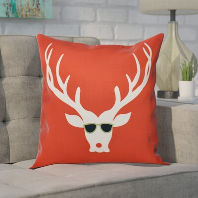 Leonis Holiday Print Throw Pillow Size: 16 H x 16 W, Color: Red