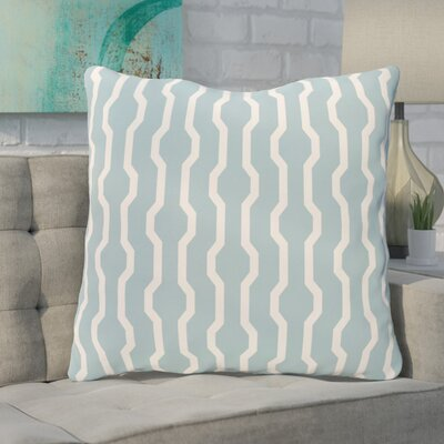 Severt Decorative Holiday Geometric Print Throw Pillow Size: 18 H x 18 W, Color: Light Blue