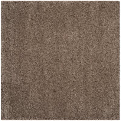 Brickner Taupe Area Rug Rug Size: Square 67 x 67