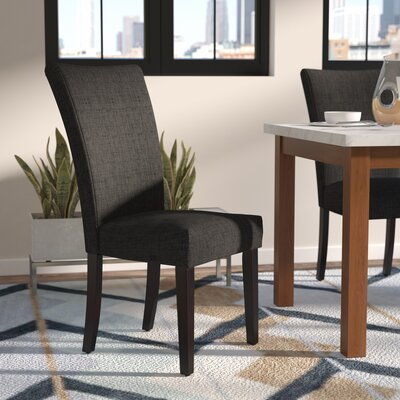 Roper Upholstered Side Chair Upholstery: Dark Gray