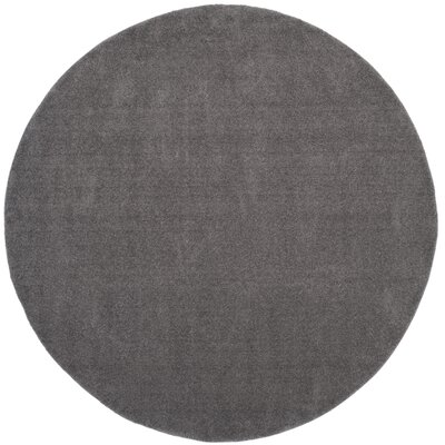 Blackstock Gray Area Rug Rug Size: Round 67