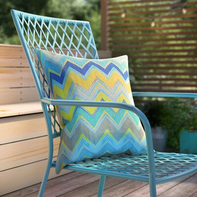 Indoor/Outdoor Prefilled Fabric Throw Pillow Color: Green