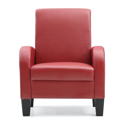 Tiff Occasional Armchair Color: Red