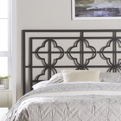 Ladson Open-Frame Headboard Finish: Gunmetal, Size: Queen