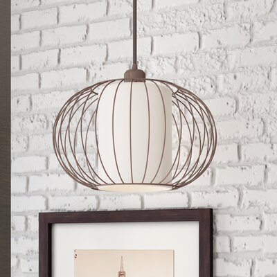 Abadie 1-Light Globe Pendant Finish: Burnished Bronze