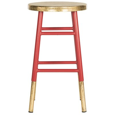 Platon 24 Bar Stool Upholstery: Red / Gold