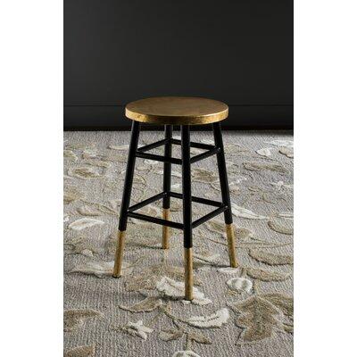 Platon 24 Bar Stool Upholstery: Black / Gold