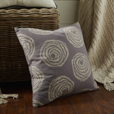 Maryanne 100% Cotton Throw Pillow Size: 18 H x 18 W x 4 D, Color: Charcoal/Cream